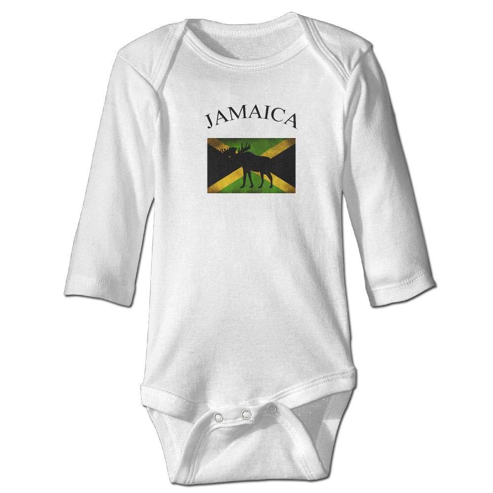 Soft Jamaican American Flag Playsuit U88oi-8 Short Sleeve Cotton Bodysuit for Unisex Baby