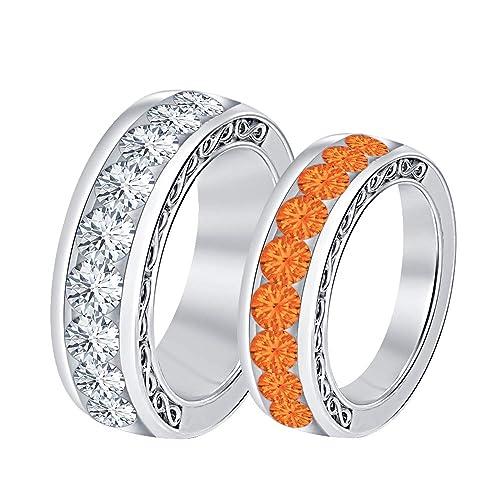 Amazon.com: RUDRAFASHION - Juego de anillos de boda para ...