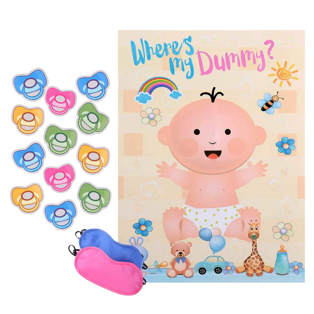 Amazon.com: Reusable Baby Shower games - Pin the Dummy on the Baby Game |  Large Size Poster | for Baby Shower Favors, Gender Reveal Party Supplies:  Toys & ...
