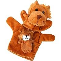 Blesiya 1 Set Lion Glove Hand Finger Puppet Animal Story Telling Learn Kids Plush Toys