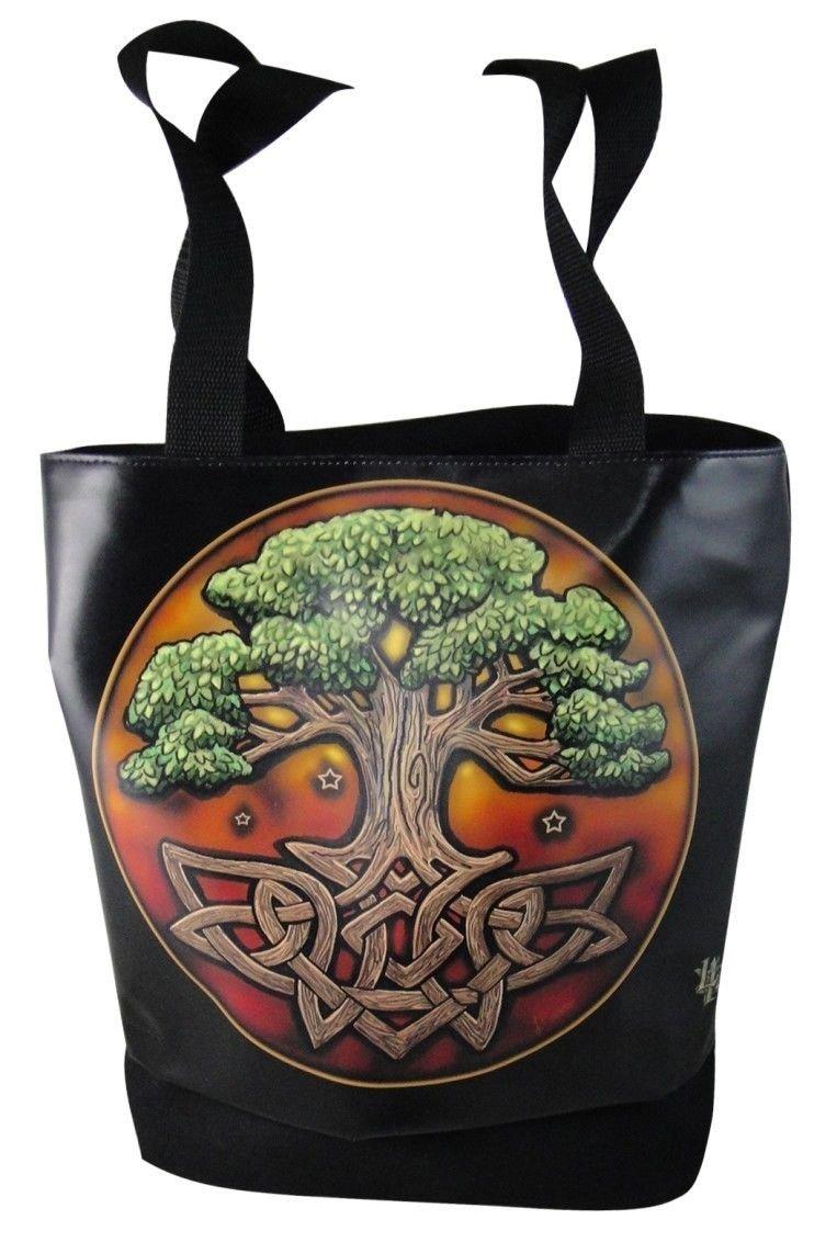 Circle Of Life Celtic Tree Of Life Tote Hand Bag Fashion