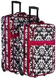 Chevron Print Two Piece Rolling Luggage Set