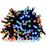 ApexPower Solar Outdoor Christmas String Lights 200led 72ft 8 Modes for Garden - Outdoor - Yard - Home - Landscape - and Holiday Decorations(Multicolored)