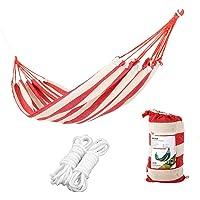LXB Outdoor-Hängematte - Leichte tragbare Parachute-Hängematten für Wandern, Reisen, Rucksacktouren, Strandurlaub und im Garten. Inklusive Nylonriemen.