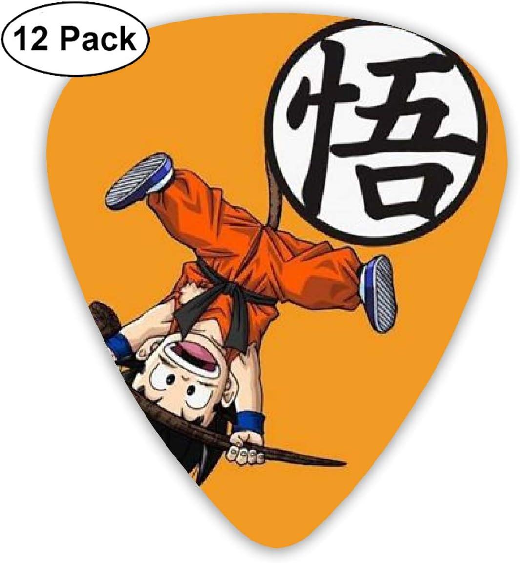 CHLING Dragon Ball Goku púas para Guitarra, 12 Unidades, diseños únicos para bajo de Guitarra