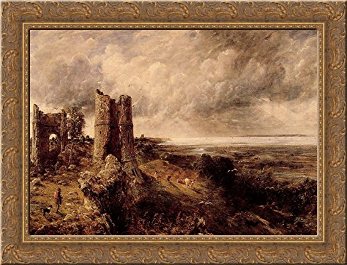 - Hadleigh Castle 24x18 Gold Ornate Wood Framed Canvas Art by John Constable
