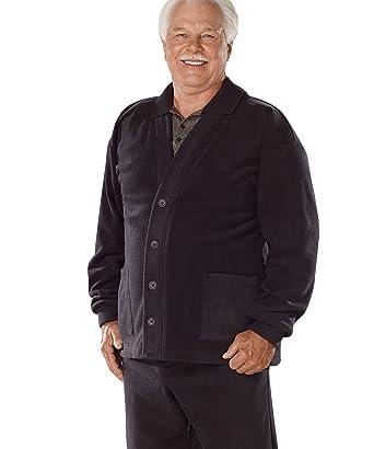 5ae7421d5f Amazon.com  Mens Fleece Open Back Adaptive Cardigan  Clothing