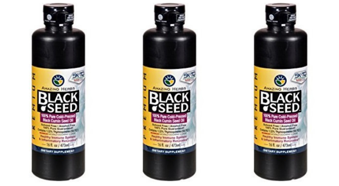 Amazing Herbs Cold-Pressed Black Seed Oil - 16oz … (3 Bottles)