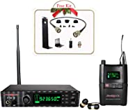 Phenyx Pro UHF Stereo Wireless in Ear Audio Monitor System, Selectable Frequency 900MHz Band, Rack Mountable, 160 ft. Operat