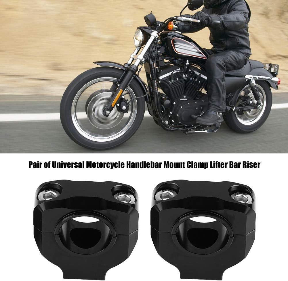 iFCOW Morsetto Riser Manubrio Moto Sollevatore Universale Manubrio in Lega di Alluminio 28Mm