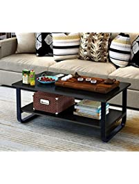 Mordern Large Coffee Table with Lower Storage Shelf for Living Room  48 x 24 Tables Amazon com