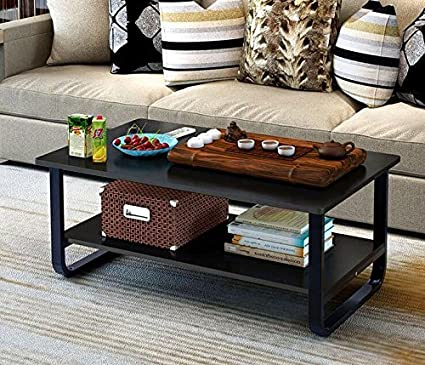 Amazoncom Mordern Large Coffee Table With Lower Storage Shelf For