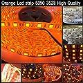 LED4Everything (TM) Orange 5M 16.4ft 12v SMD 5050 IP65 Waterproof 300 LED Flexible Tape Strip Christmas Halloween Decoration Light
