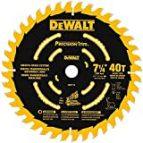 DEWALT DW7114PT 40T Precision Trim Miter Saw Blade, 7-1/4-Inch