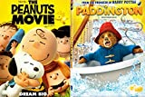 DVD : Paddington Bear & The Peanuts Movie- DVD 2 Movie Double Feature Family Charlie Brown Snoopy & Gang kid fun set