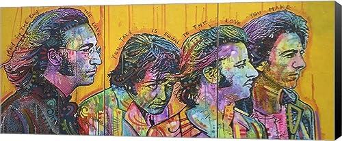 Beatles Pano Canvas Wall Art