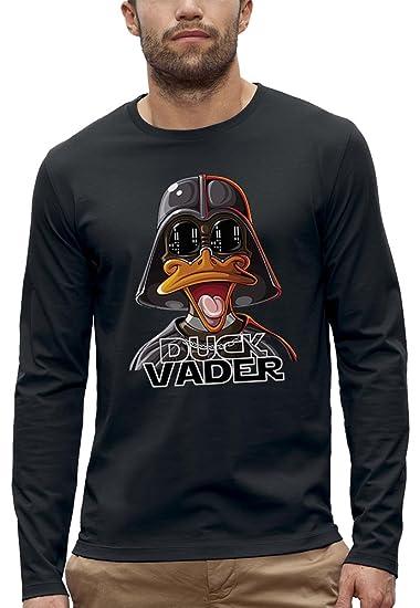 PIXEL EVOLUTION Langarmshirt Duck Vader Herren: