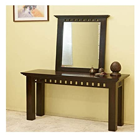 Jangir JDDR1002 Solid Wood Dressing Table (Glossy Finish, Brown)