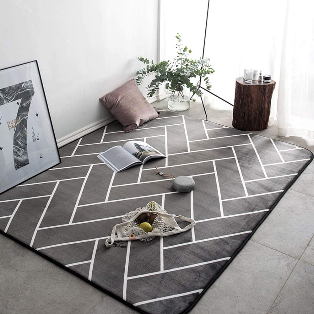 FASTER 絨毯カーペット 短毛足 洗える ラグカーペット 洗える 四角 おしゃれ 滑り止め 長方形 シンプル B07RKXKM4B 17 160*240CM
