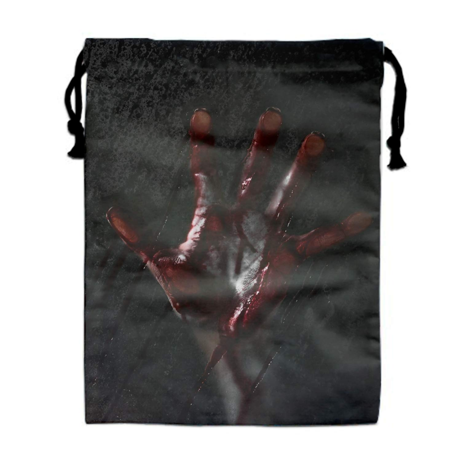 Portable Travel Horror Bloody Hand Storage Traveling Tote Shoe Bags with Drawstring 11.8 /× 15.7