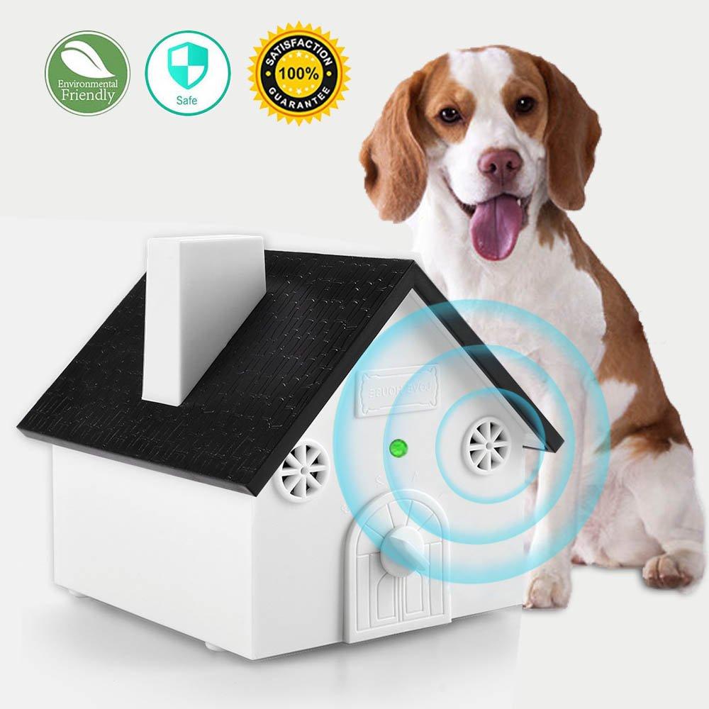 Ultrasonic Dog Bark Deterrent, MONOJOY Sonic Bark Control Outdoor Bark Controller, Dog Anti Barking Device Stop Barking Dogs Silencer Bark breaker, Safety, Friendly,