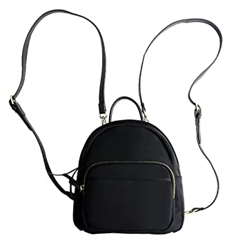 a90a285a942c LUOEM Casual Mini Backpack Waterproof Backpack Lady Handbag Casual Shoulder  Bag for Women Girl (Black)  Amazon.co.uk  Luggage