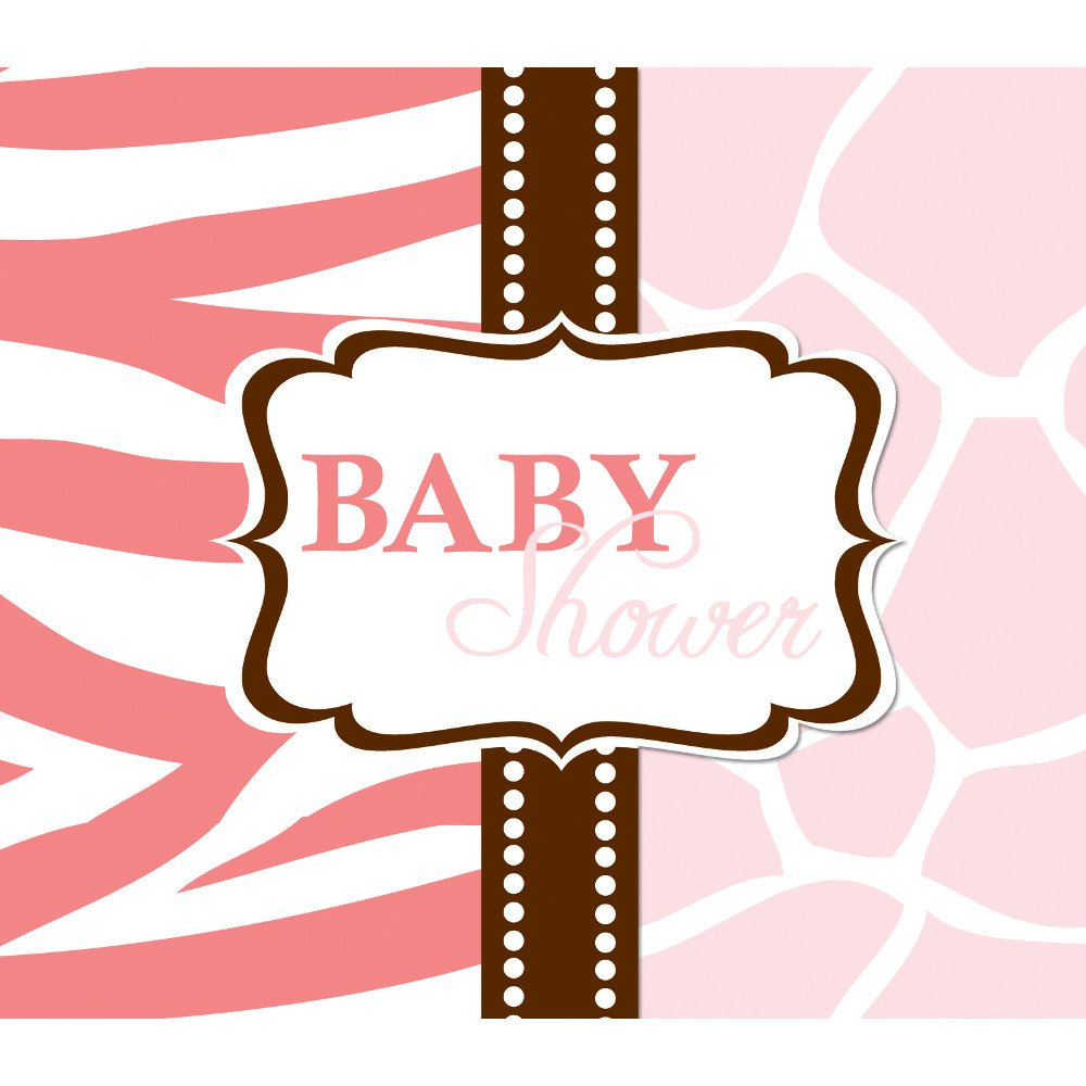 Amazon.com: Creative Converting Baby Shower Wild Safari Pink 25 ...