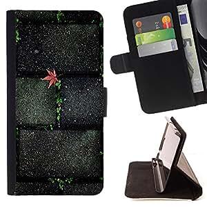 BullDog Case - FOR/Apple Iphone 4 / 4S / - / Stone Brick Wall Street Texture /- Monedero de cuero de la PU Llevar cubierta de la caja con el ID Credit Card Slots Flip funda de cuer