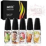 IMECIG® 5x10ml Premium E-Liquid für E Zigaretten/Elektrische Zigarette/E Shisha, Fr¨¹chte(Erdbeer-Melone-Apfel-Vanille-Orangen)-Milchshakes Gemischter Geschmack, VG/PG 70/30 -ohne Nikotin, 5 Stück