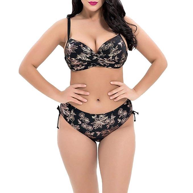 Ibaste Plus Size Bikini Traje para Baño Embarazo De Mujer Bikini Traje De Baño para Mujeres Gorditas Bikini Set Traje De Baño De Dos Piezas: Amazon.es: Ropa ...