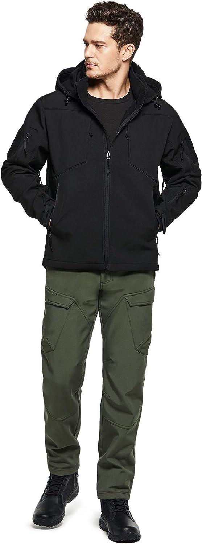 CQR Mens Fleeced Line Tactical Cargo Hiking Water Repellent EDC Pants