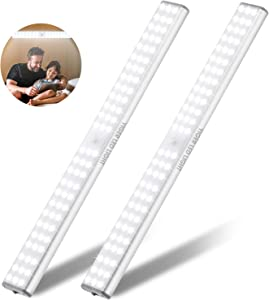 78 LED Closet Lights (2 Pack), Under Cabinet Lighting Battery Operated, Rechargeable LED Night Light, Motion Activated. Ideal for Closet, Cabinet, Kitchen,Wardrobe,Cupboard,Hallway,Pantry,etc