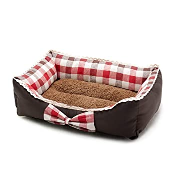 Cama de Perro para Mascotas Invierno Cachorro cálido Gato Sofá Cama Cojín Perro de Gato Estera
