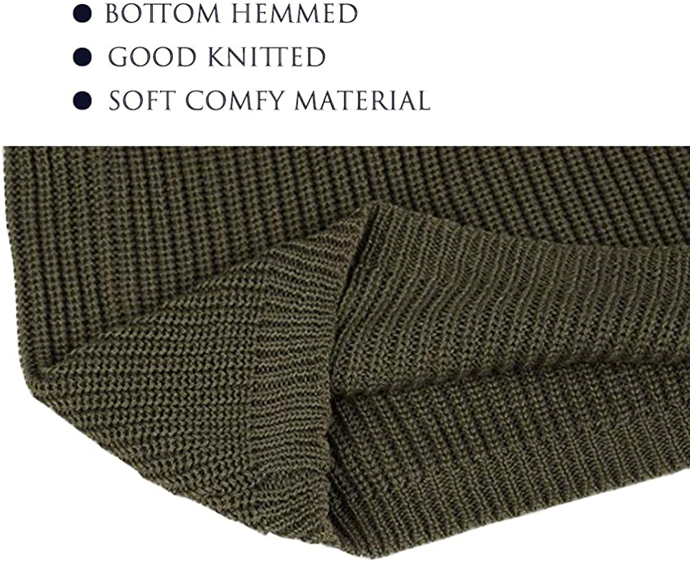 Hirate Mens Knitted Sweater Striped Long Sleeve Pullover Ribbed Casual Slim Fit Pleated Elastic Knitwear
