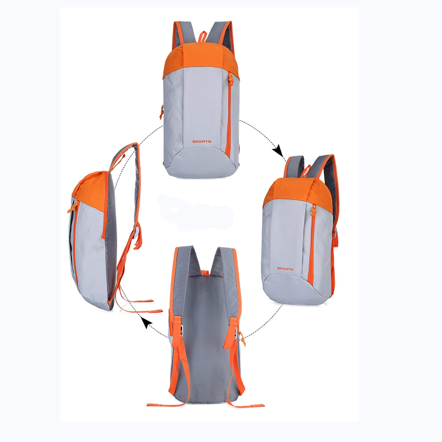 Color : Blue Nosterappou Large-Capacity Outdoor Leisure Travel Sports and Fitness Backpack Riding Backpack for Men and Women Students Waterproof Nylon Material Portable