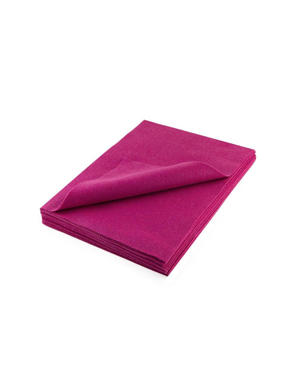 アクリル製フェルトシート 9 X 12インチ: 25個 ピンク B0057GHFYQ  ピンク
