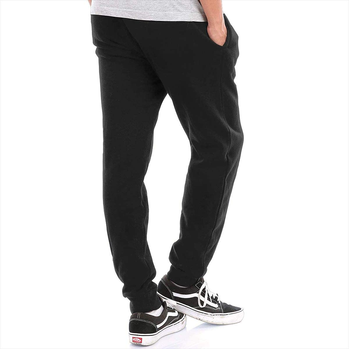 Mens Sweatpants Budweiser Beer Logo Athletic Jogger Long Pants Black