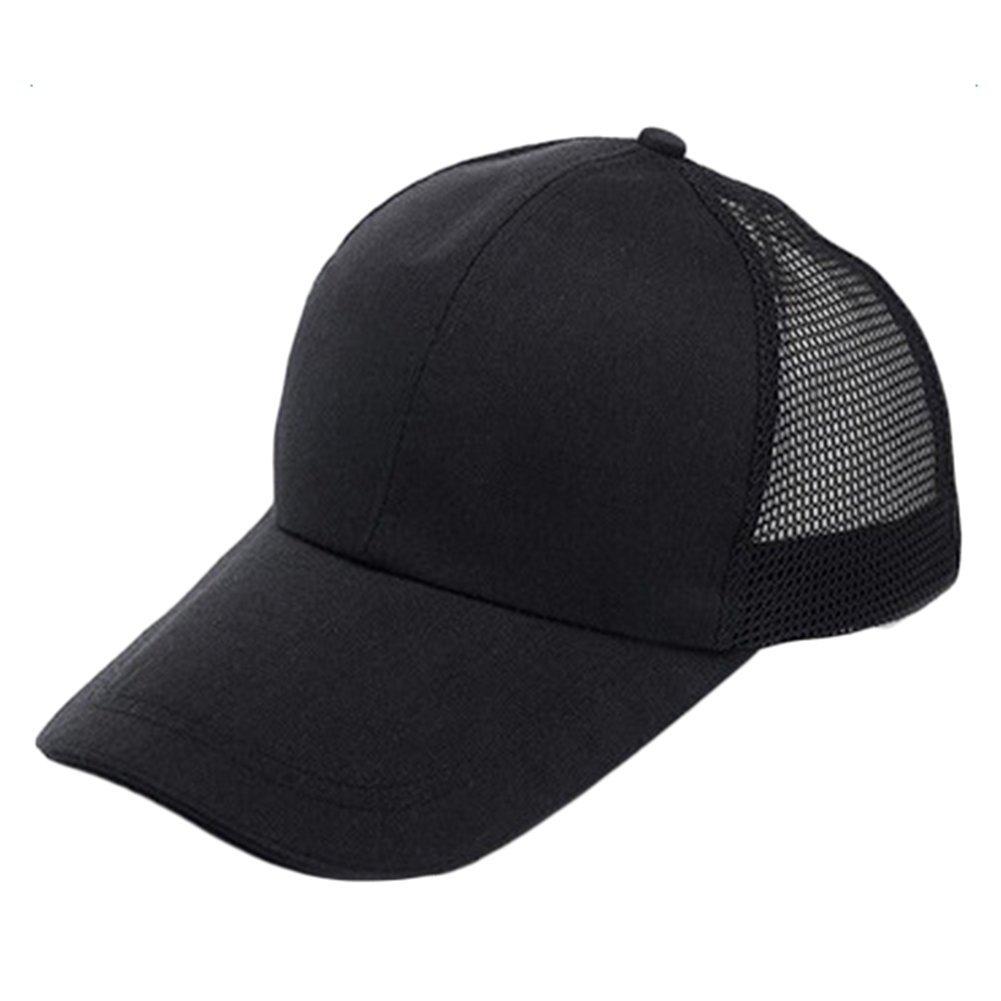 Cdet Sombrero color sólido hip-hop sombrero marea de viaje unisex gorra de béisbol algodón mezclado molienda borde,Negro