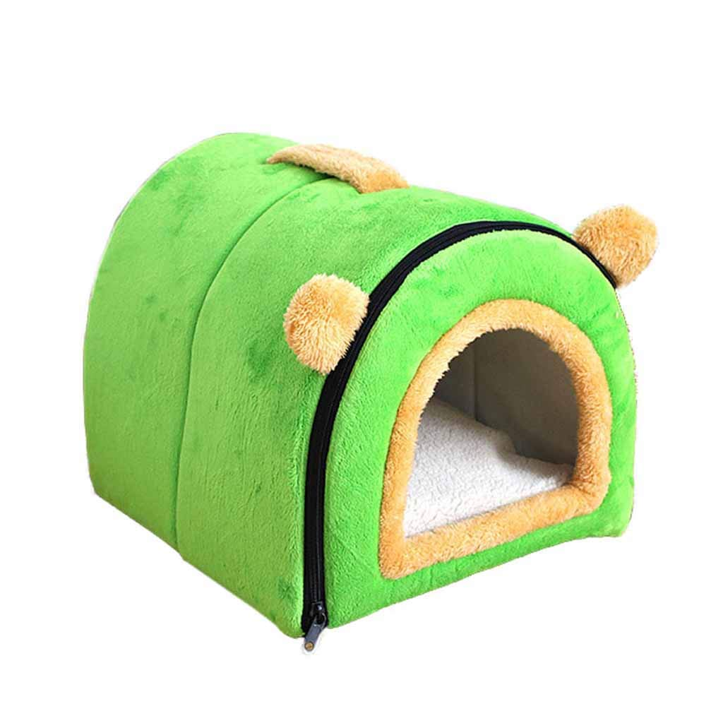 55x39x37cm KYCD Warmer Pet Dog House Bed and Portable Sofa Washable Non-Slip Dog Cat Nest Beds Foldable and Easy To Carry, 2-in-1 Pet Nest or Mattress (Size   55x39x37cm)
