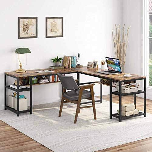 Tribesigns 70 Inch Modern L-Shaped Desk