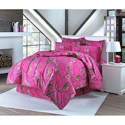 Realtree HOT PINK Camo Camouflage Sheet Set  QUEEN