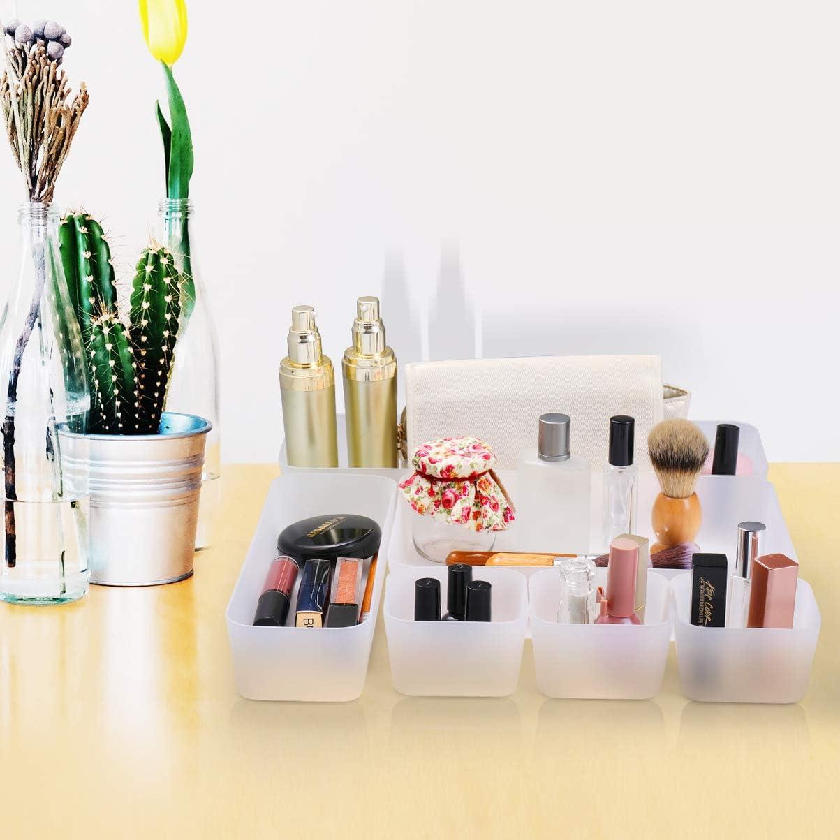 organizador de tocador y escritorio contenedores de maquillaje para cocina oficina ba/ño Cabilock Organizador de cajones con revestimiento de estantes 7 unidades 30 x 150 mm