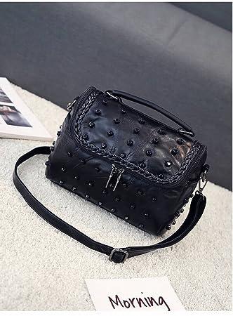 Leder Handtaschen Mode Handtaschen Schaffell Nähen Nieten Handtasche ...