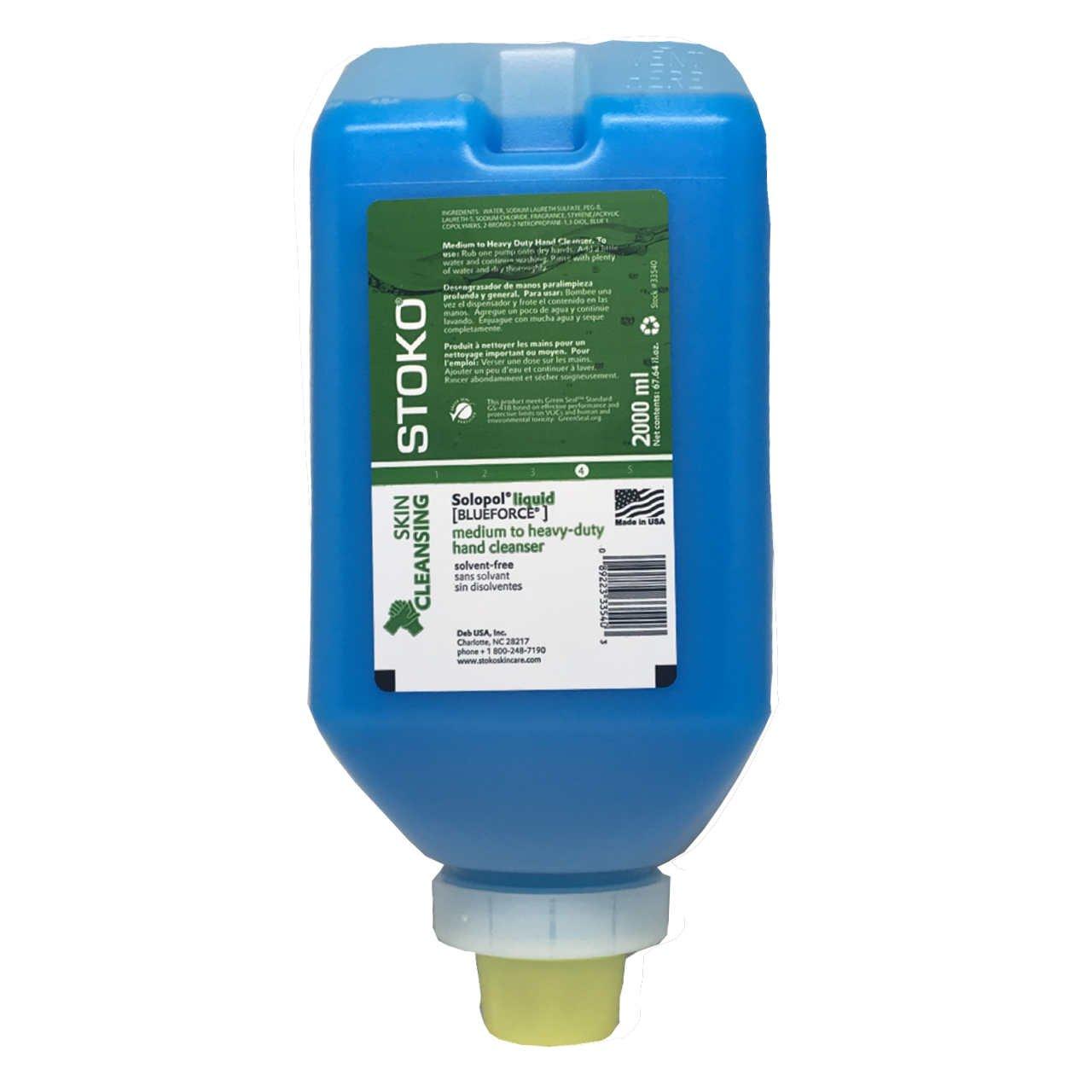 Solopol Liquid [Blue Force] 2L (33540) + Dispenser (PN55980806): Amazon.com: Industrial & Scientific