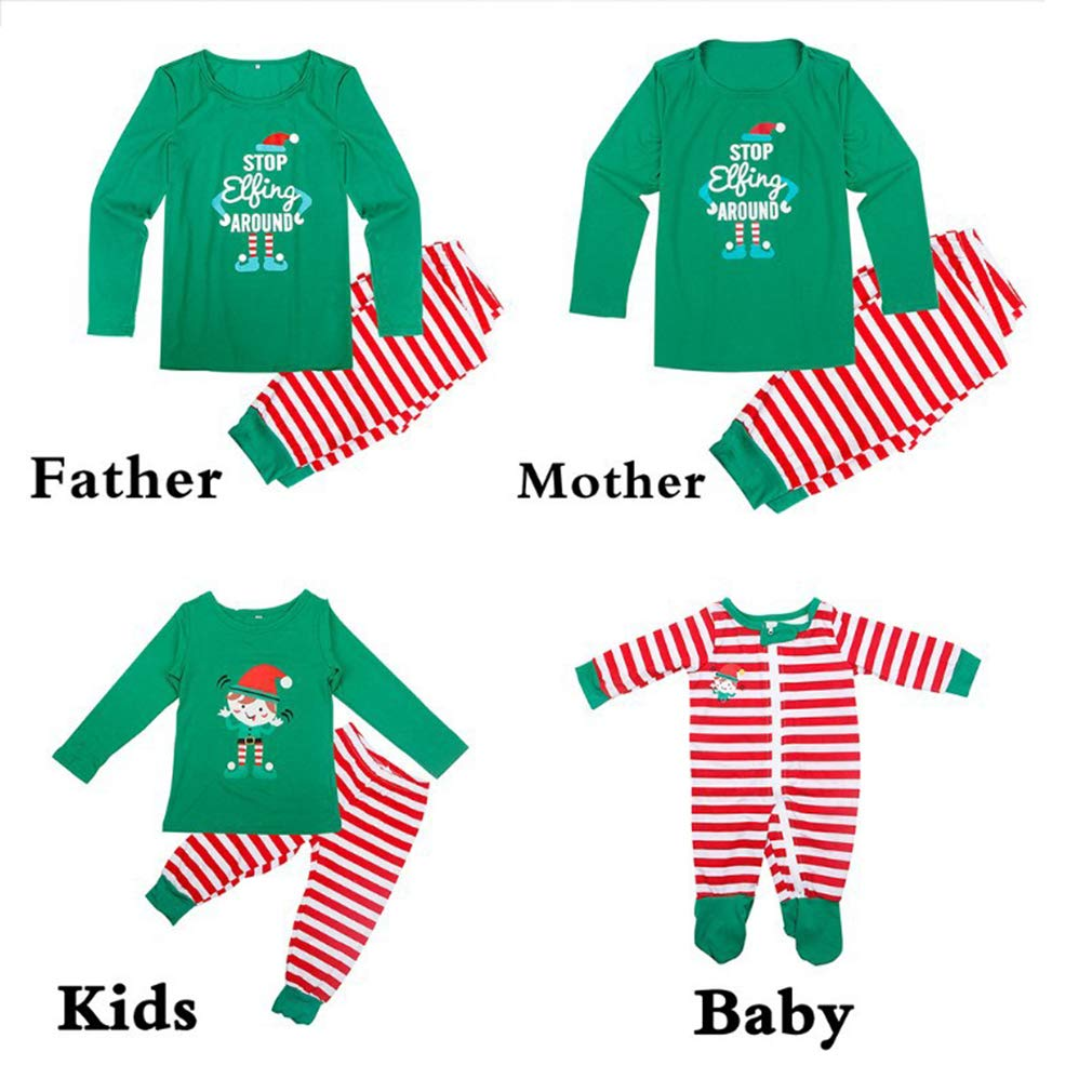 Hibote Pigiama Natalizio di Corrispondenza per Bambini Ragazzi per Adulti Pigiama di Natale per Adulti Pupazzo di Neve Manica Lunga Pigiama Pigiama Famiglia Pigiama Coordinato R180925SD05-X