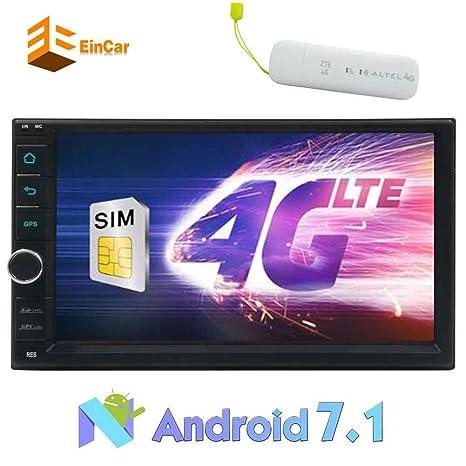 6.2 Pulgadas Eincar Doble DIN de navegación GPS para Coche DVD Octa-Core Android 7.1