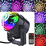 Led Party Lights Megic Ball Sound Activated Rotating Crystal DJ Disco Strobe Lights Stage Lights with Remote Control for Party KTV Bar Celebration Club Party DJ Karaoke Wedding Show