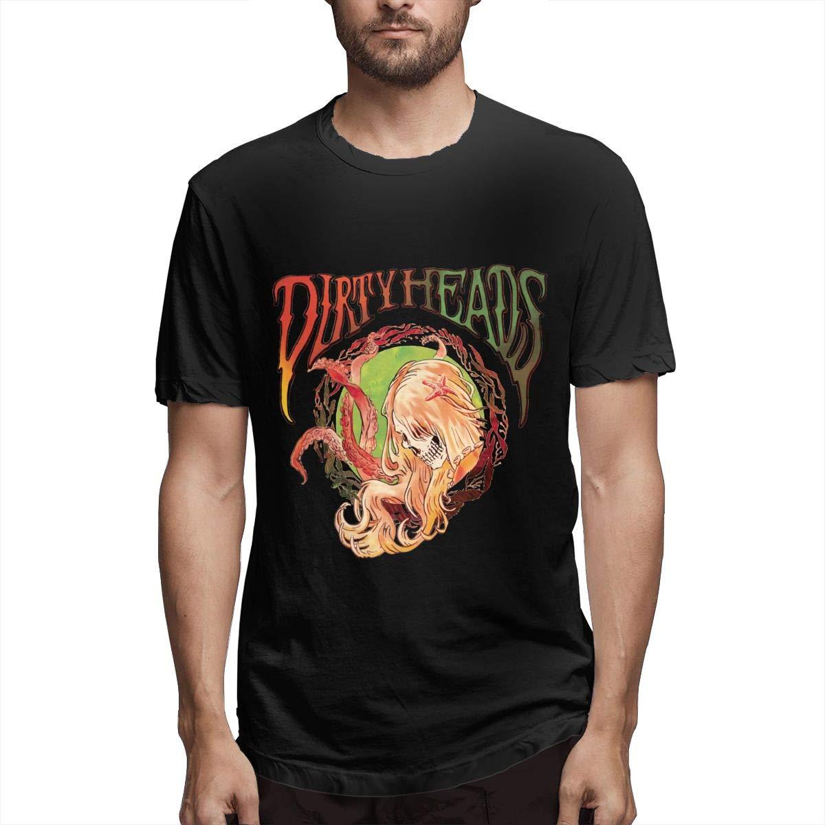 XiteSima Dirty Heads Men Short Sleeves T Shirt Classic Soft Crew Neck T Shirts