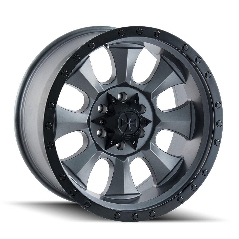 Dirty Life Matte Gunmetal/Black Beadlock Wheel with Painted Finish (18x9''/5x139.7mm)