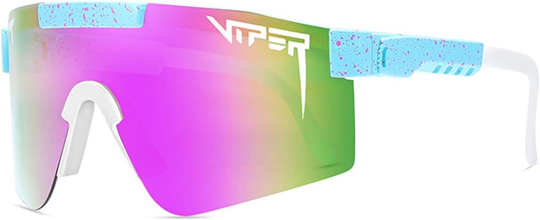Xiakolaka Original Pit Viper Sports Polarized Sunglasses for Men Women Outdoor Windproof Eyewear Uv Protection